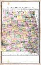Dakota, United States 1885 Atlas of Central and Midwestern States